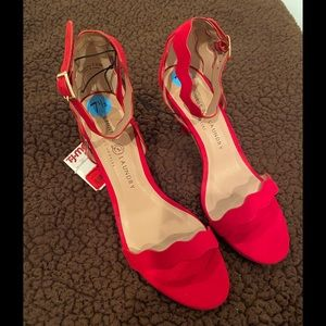 Size 7.5 Chinese Laundry Brand Red Heel dress shoe